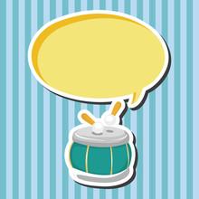 instrument drum cartoon theme elements