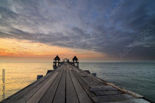 Aluminium Poort Thailand sea bridge