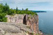 This is the cliff of Palisade Head in the Lake Superior North Shore area of Minnesota.