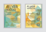 Abstract vector modern flyer brochure design templates with busi
