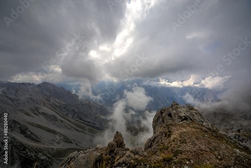 Poster Cloud on the top, picos de europa
