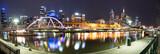 Fototapeta Melbourne night life panorama view, Melbourne, Victoria, Australia.