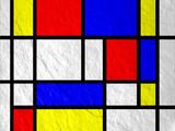 Mondrian Style Fliese Hintergrund