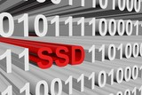 the SSD is presented in the form of binary code poster
