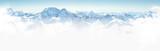 Panorama of winter mountains in Caucasus region,Elbrus mountain, Russia  - Fine Art prints