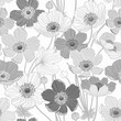 seamless pattern with anemone