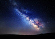 Milky Way. Beautiful summer night sky with stars in Crimea