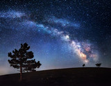 Fototapety Milky Way. Beautiful summer night sky with stars in Crimea