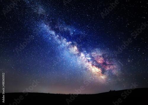 Poszter Milky Way. Beautiful summer night sky with stars in Crimea
