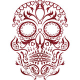 day of the dead skull pattern