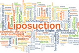 Liposuction background concept poster