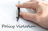 Policy Violation Hand Concept poster