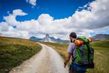 Escursione in montagna sulle Alpi del Piemonte