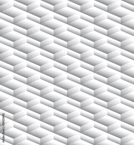 Grayscale, monochrome seamless pattern, background with 3d cubes - 88420648