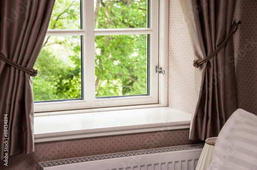 Window with curtains - 88434894
