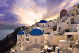Sunset in Oia, Santorini, Greece