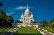 Sacre Coeur Cathedral on Montmartre, Paris, France