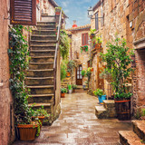 Fototapety Alley in old town Pitigliano Tuscany Italy