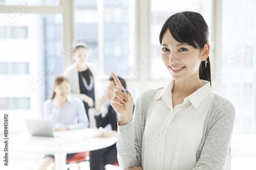 Portrait of women working Poster