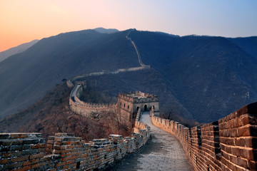 Wielki Mur zachód słońca