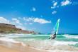 Surfing on the sea coast.