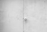 Black and white tone of old door with handle background