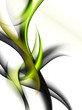 abstraction green wave composition