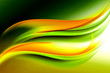 abstract green yellow wave background