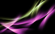 abstract green purple light wave background
