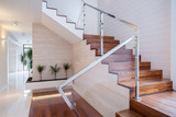 Fototapety Stylish staircase in bright interior