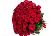 Obrazy na płótnie, fototapety, zdjęcia, fotoobrazy drukowane : Isolated large bouquet of 101 red rose isolated on white