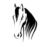 Vector silhouette of a horse head - 88506048