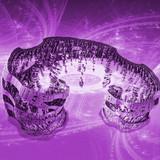 Purple Three Dimensional Fractal Art With Portal To Next World