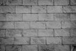 Black brick wall texture and background.
