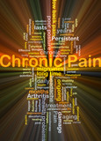 Chronic pain background concept glowing poster