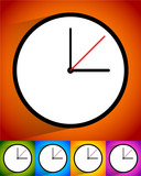 Clock vector icon for time, appointment, accuracy concepts. poster