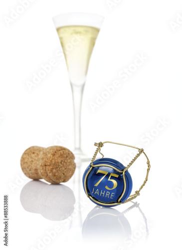 Champagnerdeckel mit der Aufschrift 75 Jahre Poster