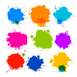 Colorful Vector Isolated Blots - Splashes Set
