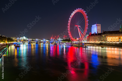 Poster The London eye at night.