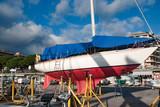 Barca a  in riparazione