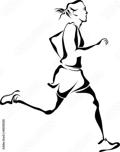 Woman Runner Poster
