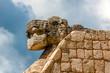 Serpent Head. Chichen Itza archaeological site, Yucatan, Mexico.