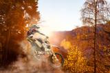 Fototapety motocross at sunset