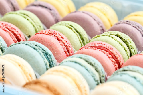 Fresh Pastel Colored Macarons Poster