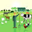 Bauer auf dem Bauernhof