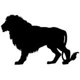 Vector silhouette of a lion