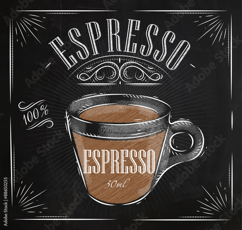 Poster Affiche craie expresso