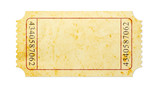 Blank vintage ticket