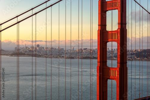 Plakát, Obraz San Francisco at sunrise.
