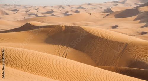 Sand dunes in Dubai desert